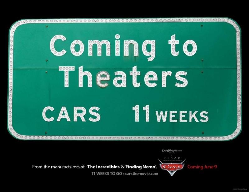 Un'immagine promozionale per il film d'animazione Cars