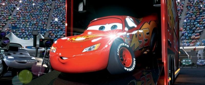 Una sequenza del cartoon Cars