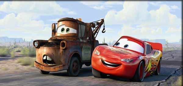 Una sequenza del film d'animazione Cars