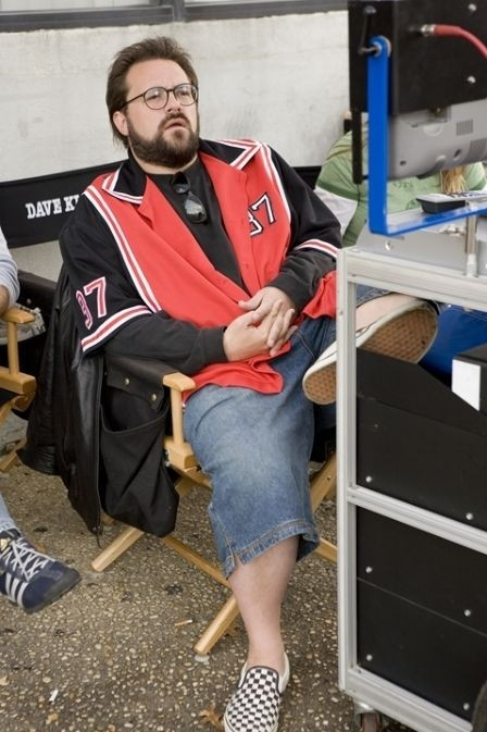 Kevin Smith sul set di Clerks II