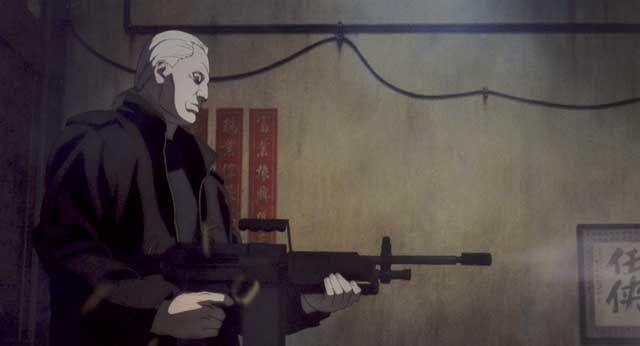Una sequenza del film Ghost in the Shell 2 - L'attacco dei cyborg