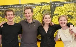 Locarno 2006 - Damien Couvreur, produttore, Frédéric Mermoud, regista, Nina Meurisse, attrice e Sarah Anderson, montatrice del film RACHEL