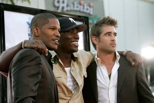 Jamie Foxx, Tyrese Gibson e Colin Farrell alla premiere di Miami Vice a Los Angeles