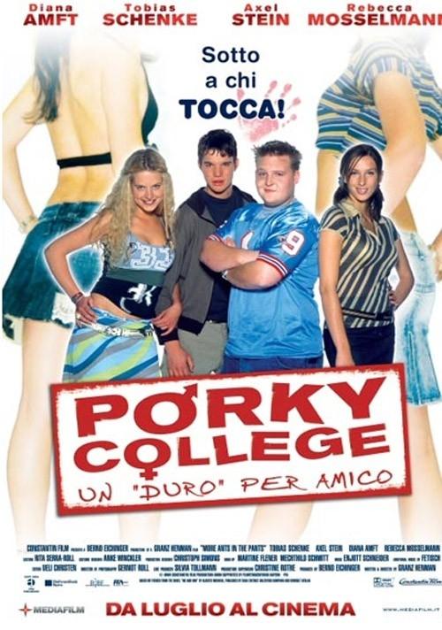 La locandina italiana di Porky college: Un duro per amico