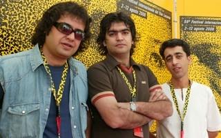 Locarno 2006 - Salour Sassan, regista, Salour Sassan, produttore, Touras Aslani, direttore della fotografia del film CHAND KILO KHORMA BARAYE
