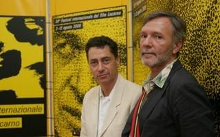 Locarno 2006 -  Laurent Roth, attore e Vincent Dieutre, regista del fiml FRAGMENTS SUR LA GRÂCE