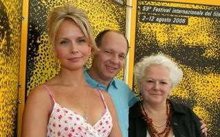 Locarno 2006 -  Sonya Salomaa, attrice, Pierre Gang, regista e Louise Jobin, produttrice del film BLACK EYED DOG