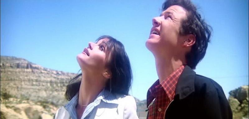 Margot Kidder e Marc McClure in una scena di SUPERMAN