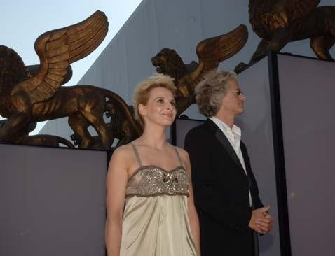 Juliette Binoche e Santiago Amigorena a Venezia 2006 per presentare il film Quelques jours en Septembre