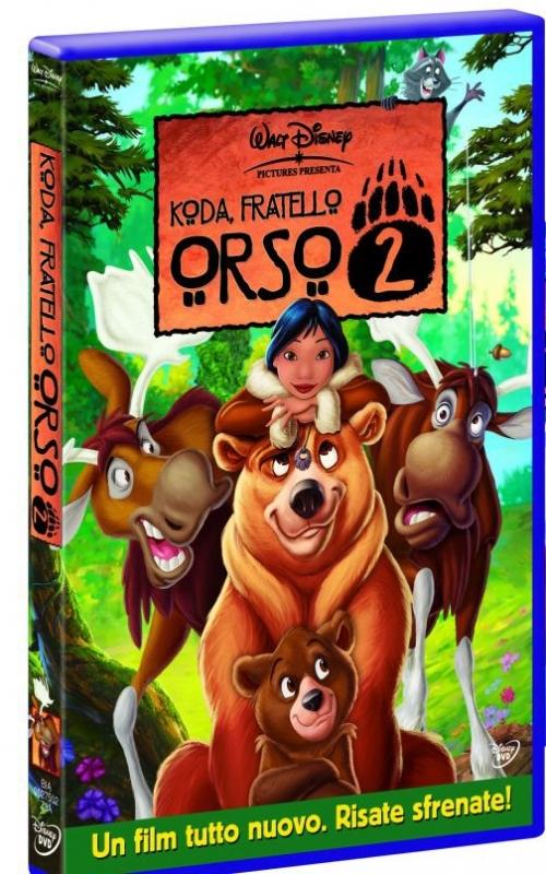 La copertina DVD di Koda fratello orso 2