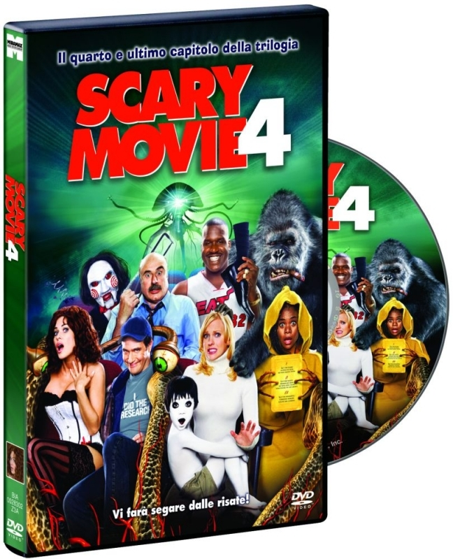 La copertina DVD di Scary Movie 4