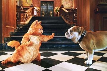 Una scena di Garfield 2