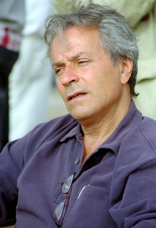 Roberto Cimpanelli sul set del film Baciami piccina