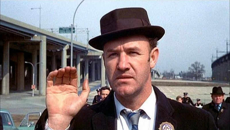 Gene Hackman in una scena di IL BRACCIO VIOLENTO DELLA LEGGE