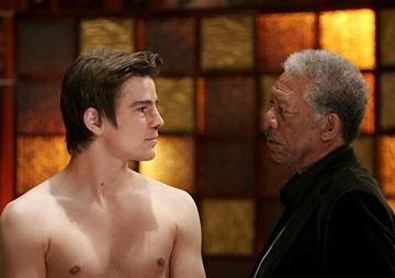 Josh Hartnett e Morgan Freeman in Slevin - Patto criminale