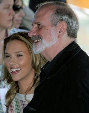 Scarlett Johansson con Brian De Palma a Venezia 2006 per presentare The Black Dahlia