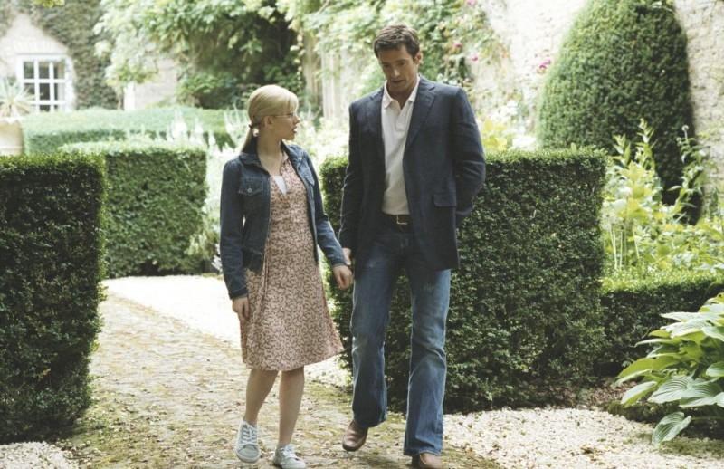 Scarlett Johansson e Hugh Jackman in una scena di Scoop