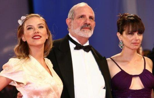 Brian de Palma con Scarlett Johansson e Mia Kirshner a Venezia 2006 per presentare The Black Dahlia