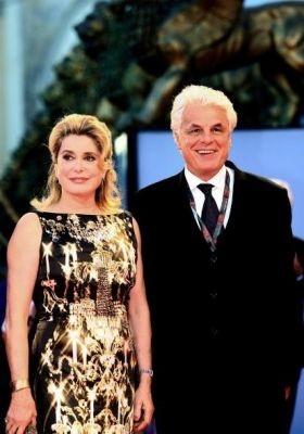 Catherine Deneuve e Michele Placido, giurati a Venezia 2006