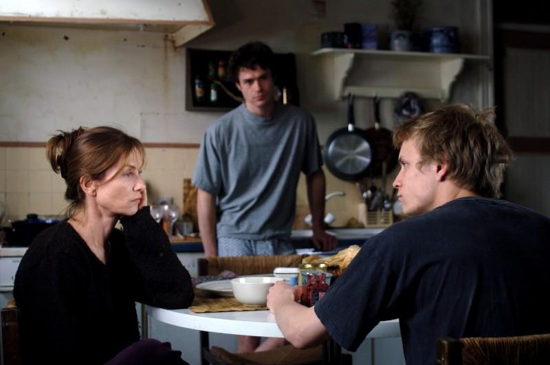 Isabelle Huppert con Jeremie e Yannick Rénier