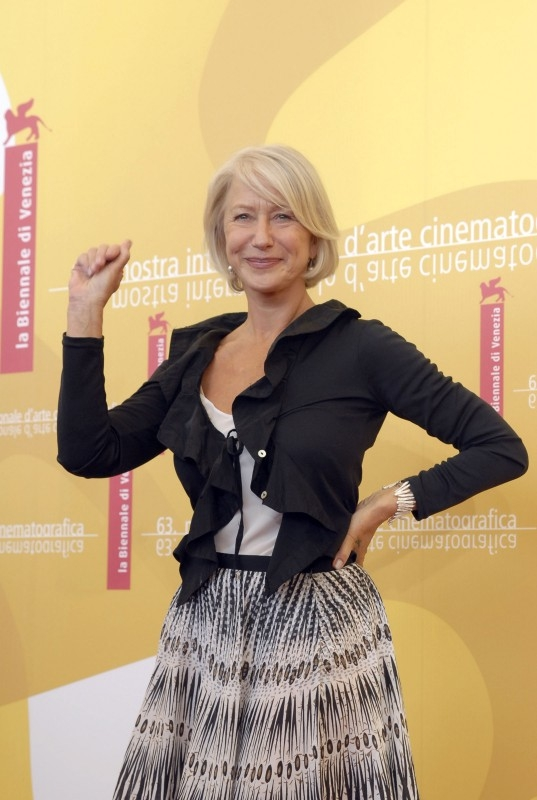 Helen Mirren a Venezia nel 2006 per presentare The Queen