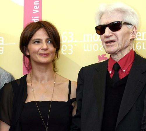 Laura Morante e Alain Resnais a Venezia 2006 per presentare il film Private Fears in Public Places