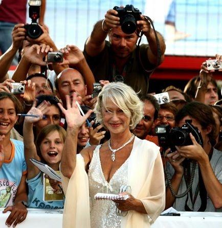Helen Mirren a Venezia la sera della prima di The Queen