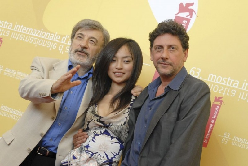 Gianni Amelio, Tai Ling e Sergio Castellitto a Venezia 2006 per presentare il film La stella che non c'è