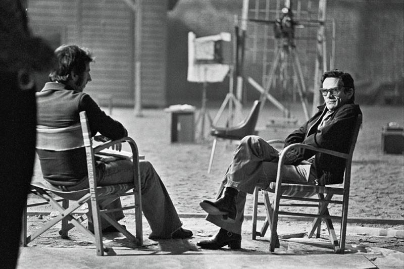 Pier Paolo Pasolini in una scena di Pasolini prossimo nostro