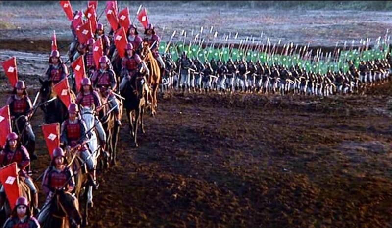 Una scena del film KAGEMUSHA - L'OMBRA DEL GUERRIERO