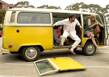 Abigail Breslin, Steve Carell e Toni Collette in Little Miss Sunshine