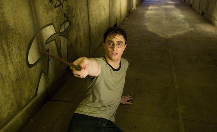 Daniel Radcliffe in una sequenza del film Harry Potter e l'Ordine della Fenice