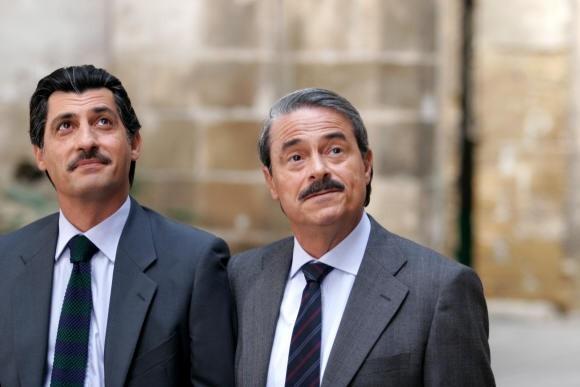 Massimo Dapporto ed Emilio Solfrizzi in una scena della fiction 'Giovanni Falcone'