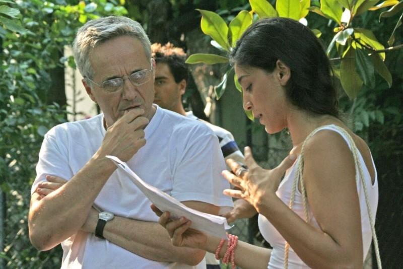 Donatella Finocchiaro e Marco Bellocchio sul set del film Sorelle