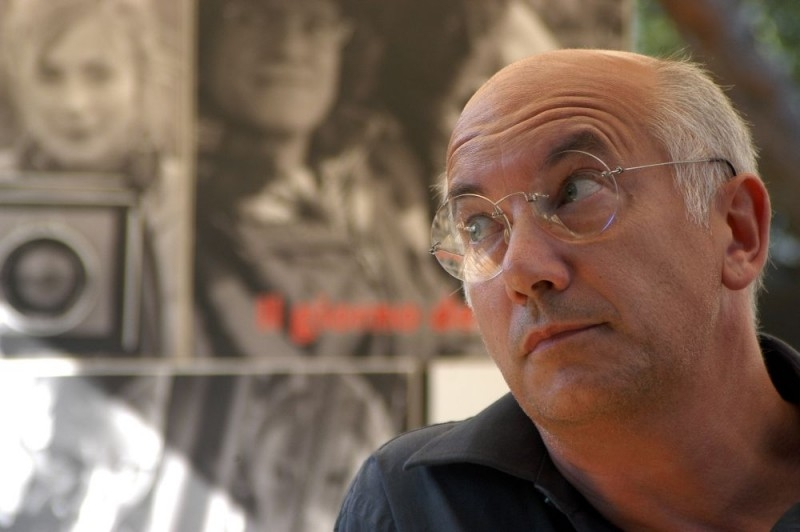 Davide Ferrario sul set del film La strada di Levi