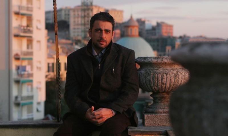 Eugenio Cappuccio sul set del film Uno su due