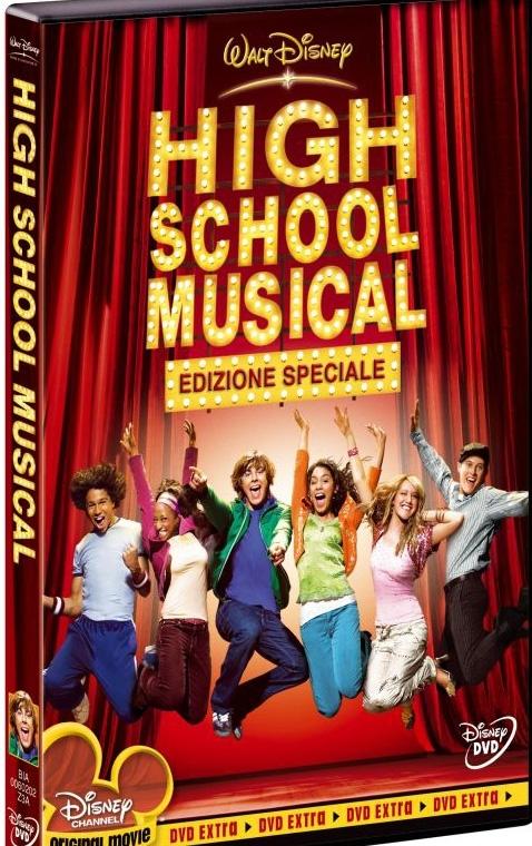 La copertina DVD di High School Musical