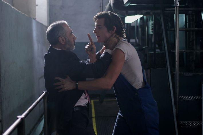 Razvan Vasilescu e Felix Klare in una scena del film Offset