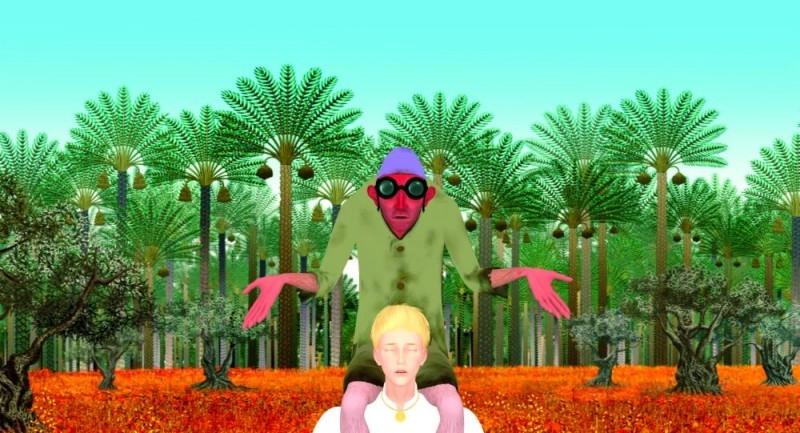 Una scena del film Azur e Asmar con i due protagonisti
