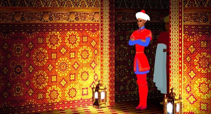 Una scena del film di animazione Azur e Asmar