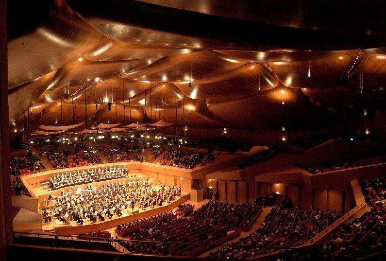 Un'immagine dell'interno dell'Auditorium