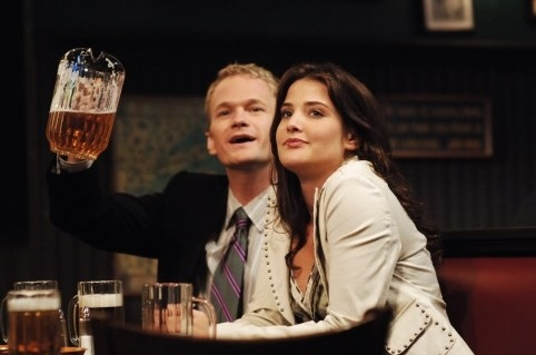 Cobie Smulders e Neil Patrick Harris in 'How I Met Your Mother'