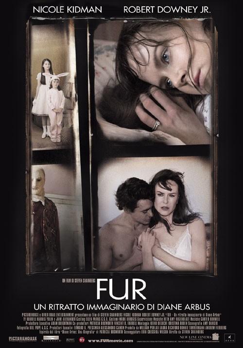La locandina italiana di Fur: un ritratto immaginario di Diane Arbus