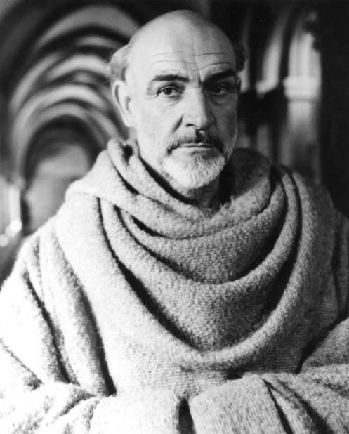 Sean Connery in una scena de Il nome della rosa