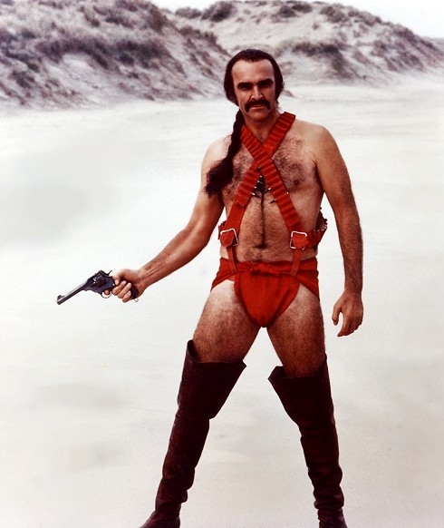 Sean Connery in una scena del film Zardoz