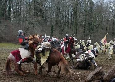 Una scena di battaglia de 'La freccia nera'
