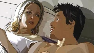 Una scena del film Waking Life