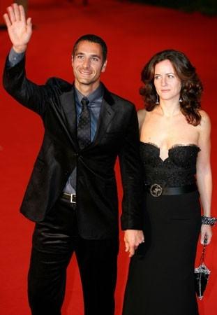 Festa del Cinema di Roma 2006: Raul Bova e sua moglie