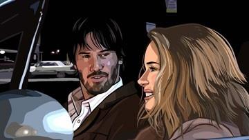 Keanu Reeves e Winona Ryder in una scena del film A scanner darkly