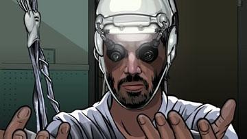 Keanu Reeves in una scena del film A scanner darkly
